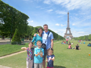 Family of 6 visits Eiffel Tower