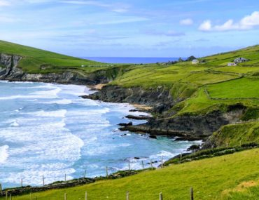 Slea Head viewing point on Dingle Peninsula, Ireland