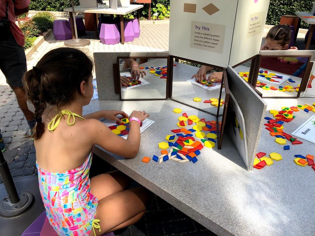 Tangram puzzles at Dallas Arboretum