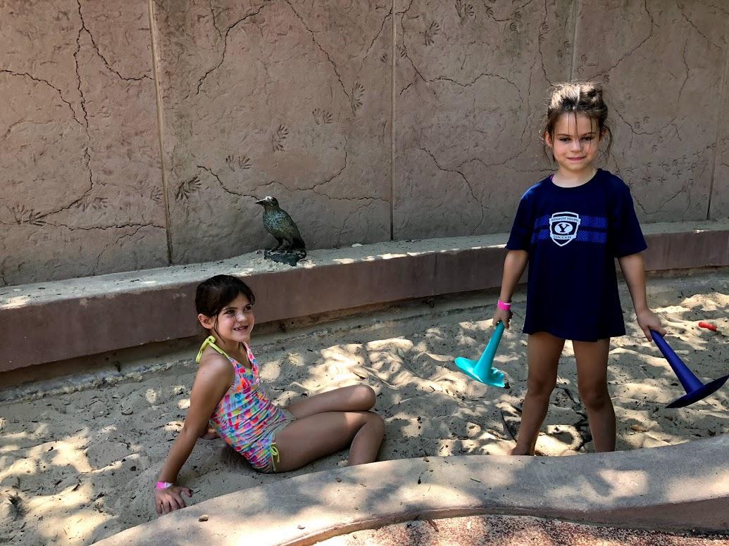 sand box at Dallas Arboretum