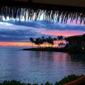 Purple, blue and orange Sunset at Hilton Waikoloa
