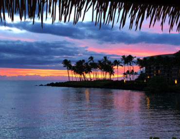 Purple, blue and orange Sunset at Hilton Waikoloa