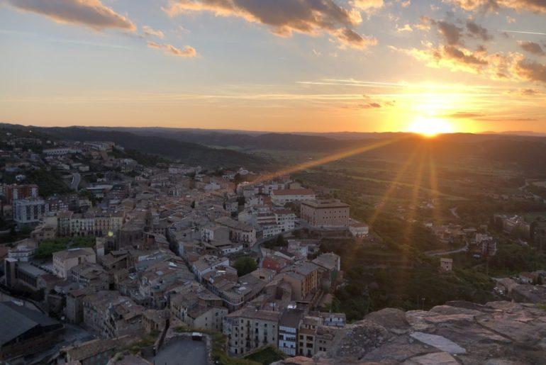 Sunset from the Parador in Cardona, Spain near Barcelona