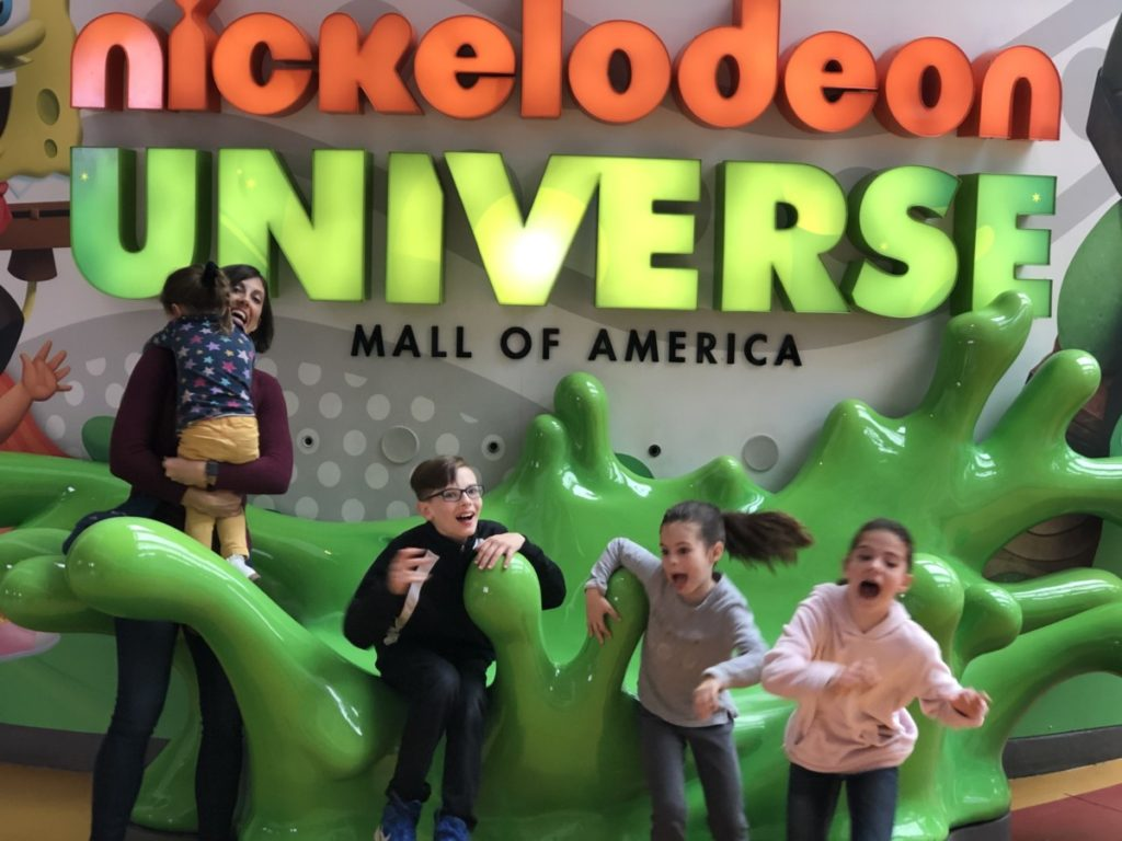 Kids scared at Nickelodeon Universe at the Mall of America