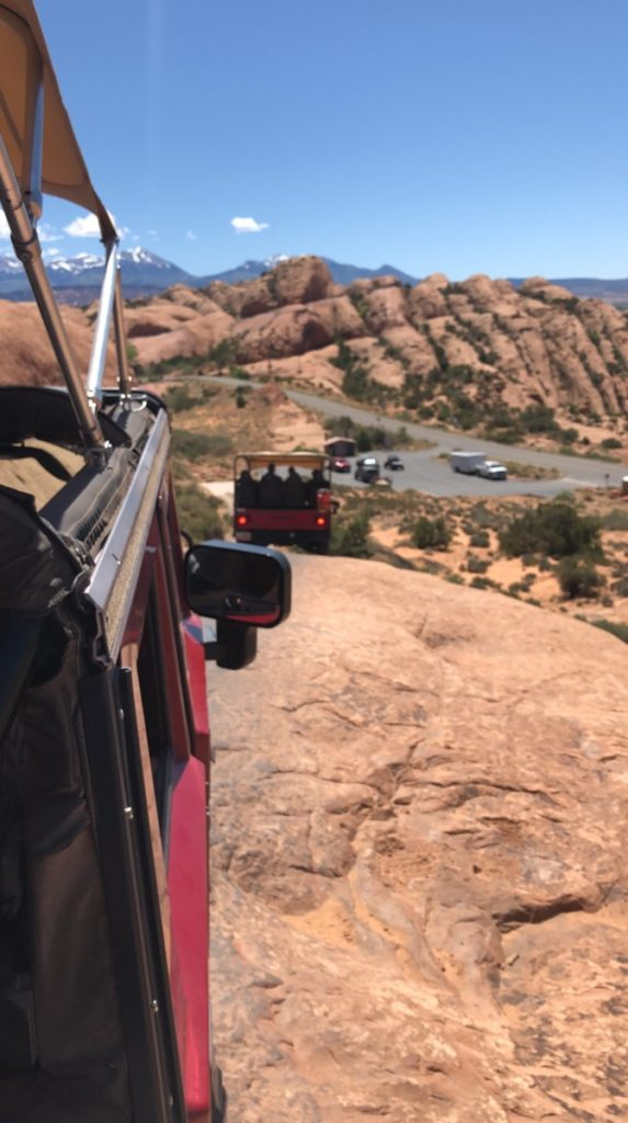 View of a hummer on the Hell's revenge trail
