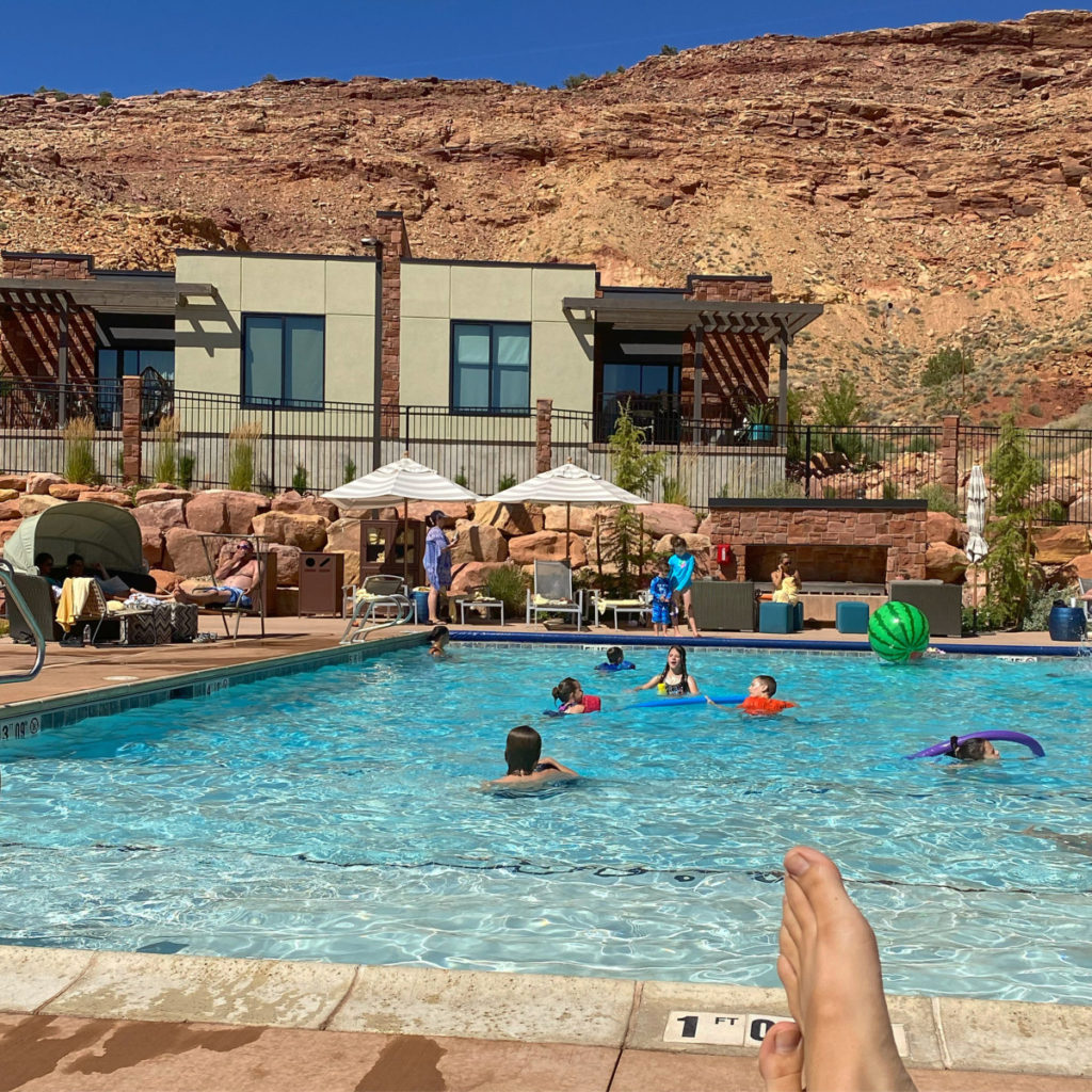 Casita at Hyatt Place Moab overlooking pool