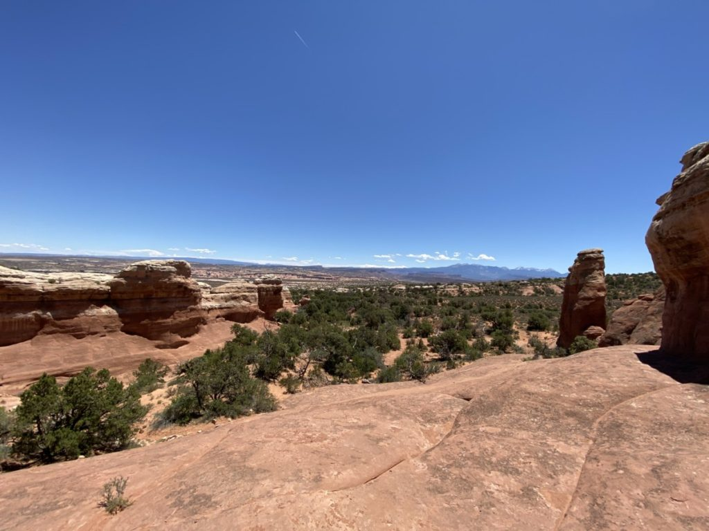 views of red rocks in Arches National Park in Moab