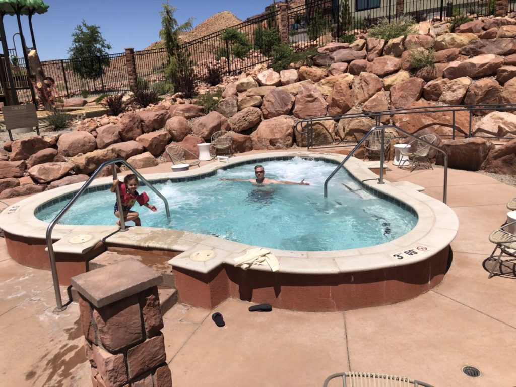 Dad and Daughter at Hyatt Place Moab Spa