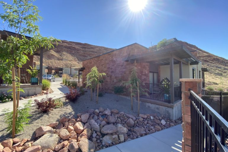 Sun Shines brightly over the Casita at the Hyatt Place in Moab