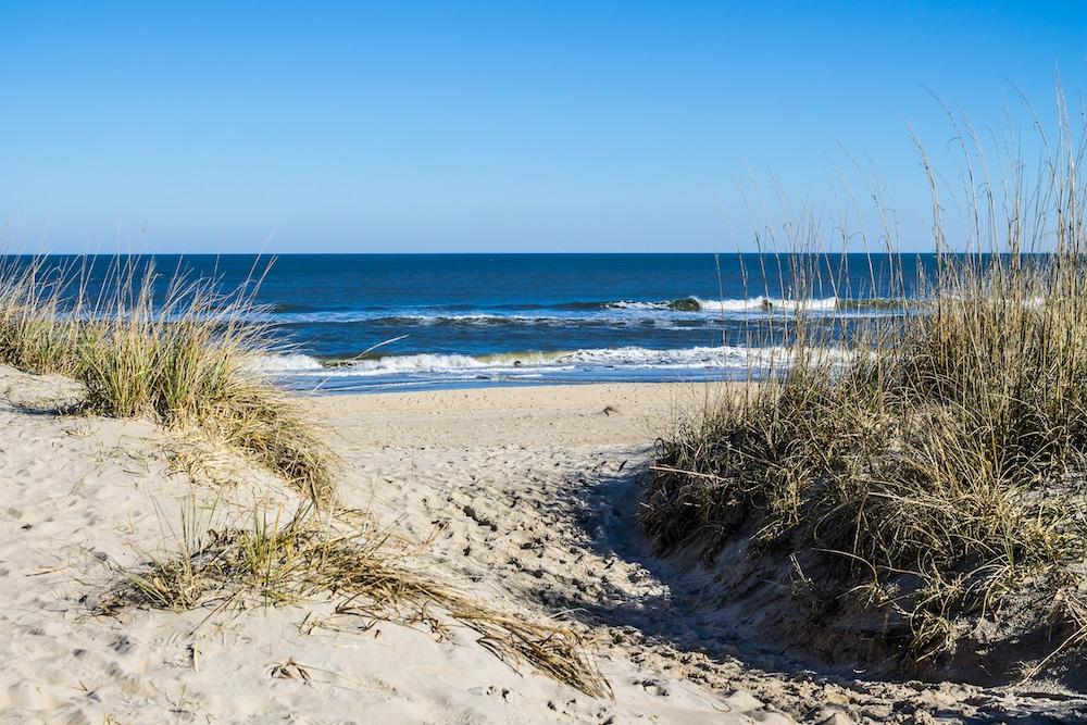 waves coming in at Virginia Beach in Virginia