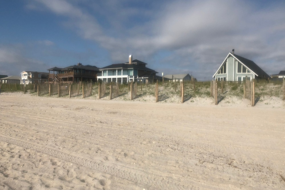 Wrightsville beach and beach houses in North Carolina