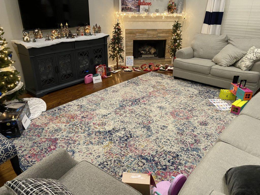 Living room on Christmas Morning
