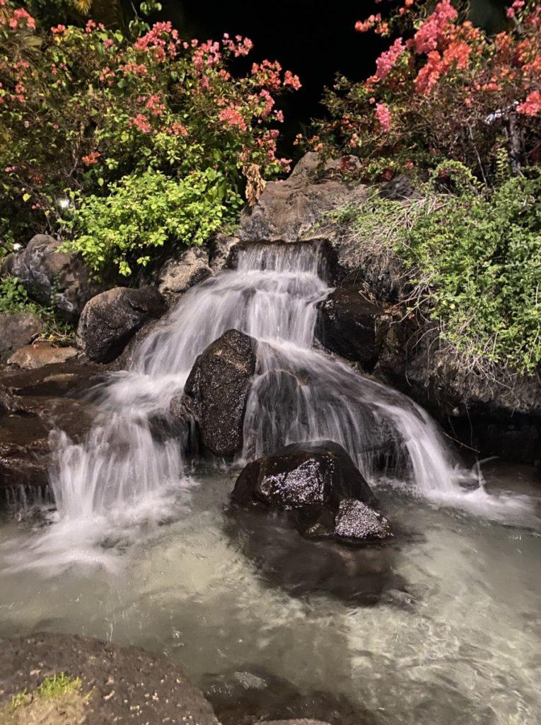 Waterfall on Waikiki Beach in Honolulu