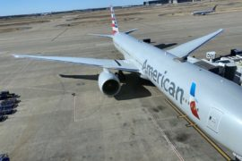 American Airlines plane on Tarmac at DFW airport